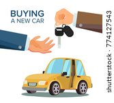 buying a car. dealer  buyer... | Shutterstock . vector #774127543