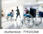 de focused hospital room.... | Shutterstock . vector #774131368