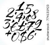 brush lettering numbers ... | Shutterstock .eps vector #774131923