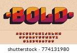 retro font 90's  80's.... | Shutterstock .eps vector #774131980