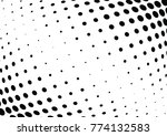 abstract halftone wave dotted... | Shutterstock .eps vector #774132583