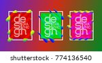 colorful frames set with... | Shutterstock .eps vector #774136540