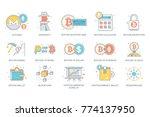 bitcoin  blockchain  ... | Shutterstock .eps vector #774137950