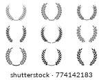 black laurel wreath   a symbol... | Shutterstock .eps vector #774142183