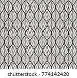 trendy tropical leaves vector... | Shutterstock .eps vector #774142420