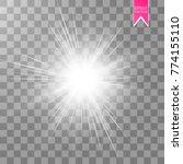 glow light effect. star burst... | Shutterstock .eps vector #774155110