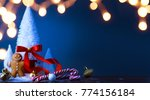 christmas candy and christmas... | Shutterstock . vector #774156184