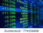 stock market data on led... | Shutterstock . vector #774156808