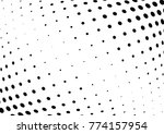 abstract halftone wave dotted... | Shutterstock .eps vector #774157954