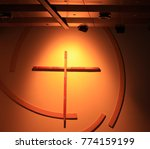 cross shining in darkness....   Shutterstock . vector #774159199