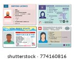 car driver license with photo... | Shutterstock .eps vector #774160816
