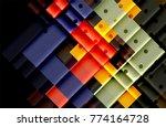 color arrows on black...   Shutterstock .eps vector #774164728