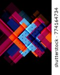 color arrows on black...   Shutterstock .eps vector #774164734