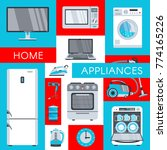 vector home appliance... | Shutterstock .eps vector #774165226