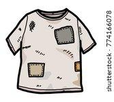 old t shirt   cartoon vector... | Shutterstock .eps vector #774166078