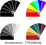 color sample fan card icon... | Shutterstock .eps vector #774168106
