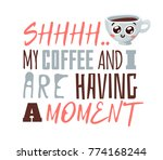 cartoon funny cup of coffee and ... | Shutterstock .eps vector #774168244