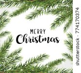 happy christmas greeting card... | Shutterstock .eps vector #774170374