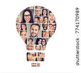 concept of teamwork  positive... | Shutterstock . vector #774170989