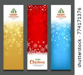 merry christmas colorful... | Shutterstock .eps vector #774171376