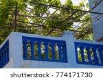 traditional moroccan courtyard... | Shutterstock . vector #774171730