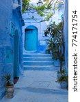 traditional moroccan courtyard... | Shutterstock . vector #774171754