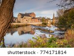 River Wansbeck Weir In Morpeth...