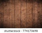 old grunge dark textured wooden ... | Shutterstock . vector #774173698