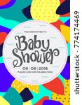 baby shower invitation card. | Shutterstock .eps vector #774174469