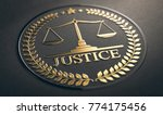 scales of justice embossed...   Shutterstock . vector #774175456
