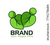 leaf nature logo. logo template   Shutterstock .eps vector #774178684