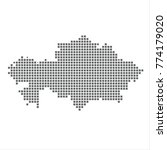 pixel map of kazakhstan. vector ... | Shutterstock .eps vector #774179020