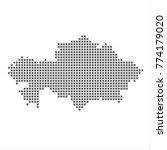 pixel map of kazakhstan. vector ... | Shutterstock .eps vector #774179020