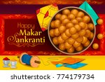 delicious sweet and colorful... | Shutterstock .eps vector #774179734