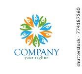natural logo design.  vector...   Shutterstock .eps vector #774187360