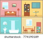 furnishing interior rooms on... | Shutterstock .eps vector #774190189