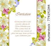 frame of a few flowers. for... | Shutterstock .eps vector #774191344