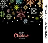 vector colorful snowflake for... | Shutterstock .eps vector #774196033