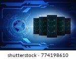 3d rendering database storage... | Shutterstock . vector #774198610