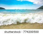 Phuket Beach Blue Green Wave...