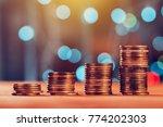 money savings concept with coin ... | Shutterstock . vector #774202303