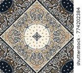 paisley bandana print | Shutterstock .eps vector #774202384