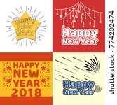 happy new year vector... | Shutterstock .eps vector #774202474