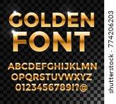 golden glossy vector font or... | Shutterstock .eps vector #774206203