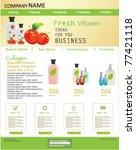 website design template with... | Shutterstock .eps vector #77421118
