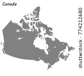 high quality map of canada | Shutterstock .eps vector #774212680