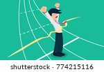 salary man vol.1 goal go to... | Shutterstock .eps vector #774215116