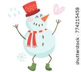 vector illustration of a funny...   Shutterstock .eps vector #774215458