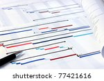 project plan gantt charts with... | Shutterstock . vector #77421616