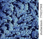 foliate baroque vector seamless ... | Shutterstock .eps vector #774217543